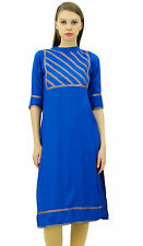 Bimba Womens Rayon Designer Tunic Lace Detail Top Straight Blouse Yoke Kurtis