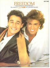 WHAM! FREEDOM-SHEET MUSIC-EASY PIANO-GEORGE MICHAEL-1984-RARE-BRAND NEW ON SALE!