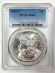 1881-S  Morgan Silver Dollar - PCGS MS 65 - CRAZY LUSTER