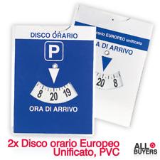 2 Dischi Orari Parcometro Per Auto Parcheggio Europeo Unificato Sosta A Ore