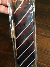 Gucci Tie Pinentone Black And Bordeaux New With Tags