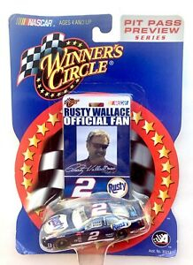 2002 NASCAR Winners Circle 03232 Rusty Wallace #2 Pit Pass Preview Series 1:64