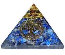 Lapis Lazuli Stone Orgone Pyramid Reiki Tree of Life Spiritual Energy Generator
