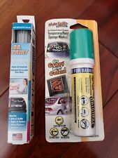 Glass Chalk Original Temporary Paint Sponge Marker and Dr. Paint marker.