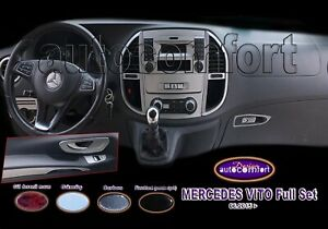 Fit For Mercedes Benz Vito Metris W447 Gray Color Full Dash Trim Set 44pcs 2014