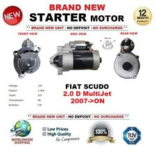 FOR FIAT SCUDO 2.0 D MultiJet 2007-on NEW STARTER MOTOR 2.3kW 10Teeth OE QUALITY