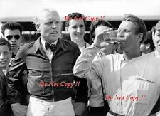 Mike Hawthorn & Pete Collins Ferrari Portrait British Grand Prix 1958 Photograph