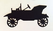 Cricut Die Cuts Antique Car Black handcrafted For Paper Piecing