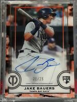 JAKE BAUERS TAMPA BAY DEVIL RAYS 2019 TOPPS TRIBUTE ROOKIE AUTOGRAPH SSP 21/25
