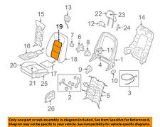 VOLVO OEM 07-10 S80 Front Seat-Cushion Cover-Top Back Left 31351225