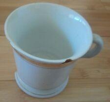 "Vintage Shaving Mug With Gold Trim, 2 Chips, 4"" x 3½. Days of Yore Decorative"