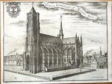 BELGIUM, YPRES, ST MARTINS CATHEDRAL  Francois Foppen Antique Print 1720