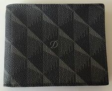 S.T. Dupont 6 Credit Card, Coated Canvas & Leather Billfold Wallet, 91200, NIB