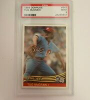 1984 Donruss PSA 9 Tug McGraw Philadelphia Phillies #547