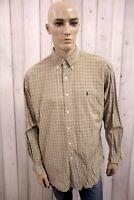 RALPH LAUREN Camicia Uomo Shirt Casual Cotone Manica Lunga Chemise Taglia L