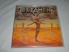 SIGNED BY BAND VINTAGE MEGAFORCE WORLDWIDE TESTAMENT RECORD 82009-1 ATLANTIC LP