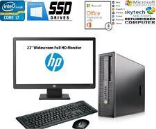 "Full Set HP 800 G1 SFF i7 Trading COMPUTER PC 16GB SSD 1TB 23"" Full HD Monitor"