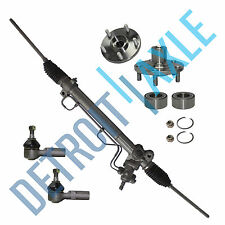 (5)Complete Steering Rack & Pinion + 2 Wheel Hub Bearing + 2 Tie Rod Set V6 3.0L