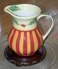 Southern Living at Home Gail Pittman Pottery Sienna Hand Painted 48 oz Pitcher