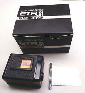 6 x 4.5 Zenza Bronica ETR Si Film Back Ei 220 In Box w/ Dark Slide - FREE SHIP!!