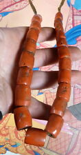 Tibetana Antiguo Collar de Abalorios de coral natural Real