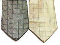 2 Donna Karan DKNY Mens Silk Neck Tie Necktie New Green Light Yellow