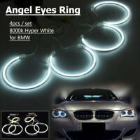 4x Lampade Luci CCFL Led Angel Eyes Halo Rings Bianco Per Bmw E46 E36 E38