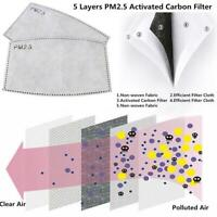 Face Mask Filters pm2.5 Filter Activated Carbon Face Mask Filters