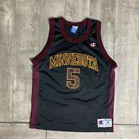 Minnesota Golden Gophers #5 NCAA Black Champion Jersey Mens 40 Medium Vintage