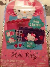 HELLO KITTY STICK ON STYLE BRACELETS MAKE TWO BRACELETS ages 3 and up