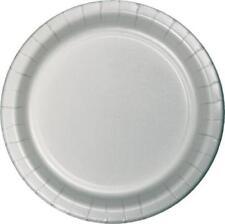 Decoración y menaje platos color principal plata para mesas de fiesta