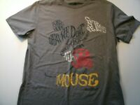 Disney Mens Size Large Graphic Mickey Mouse T-shirt Short Sleeve Gray color