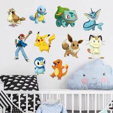 *FULL SET* Pokemon Vinyl Wall Art Stickers Kids Boys Girls Bedroom Pokémon