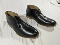 EUC Deer Stags 902 Townsend Memory Foam Mens Leather Dress Shoes Sz 15W Black