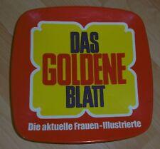 dachbodenfund zahlteller alt werbung reklame das goldene blatt fähnrich top deko