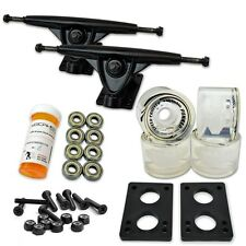 HD7 Longboard Combo set - Black trucks (Gel Clear)