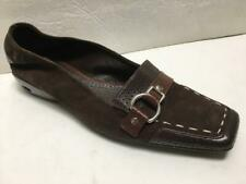 COLE HAAN brown leather suede buckle loafers slip on flats 7 1/2