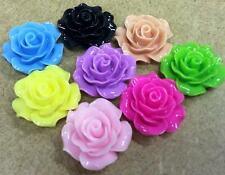 20 Flower Cabochons B061