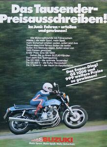 Prospekt / Preisausschreiben Suzuki 1978