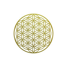 Sticker Tattoo 10cm Gold Car Door Window Film Flower of Life Life Flower