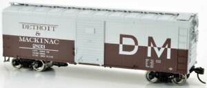 Detroit & Mackinac 40' Box Car #2839 HO Kit - Bowser #42710  vmf121