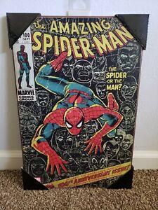 Spider-Man Wood Wall Art Marvel Comics Silver Buffalo