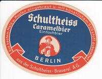 1 Bieretikett Berlin , Schultheiss , Caramelbier