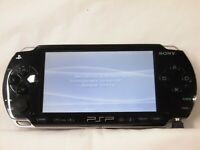X1017 Sony PSP 1000 console Black Handheld system Japan w/battery English