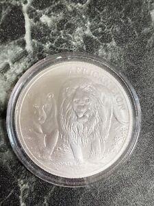 2016 Republic of Congo African Lion 1 Ounce .999 Fine Silver 5000 Francs Coin
