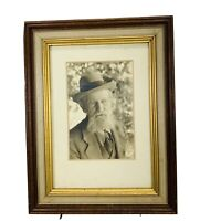 Old Vintage Antique Photograph Picture of Senior Man Framed 8.5 x 6.5 small tear