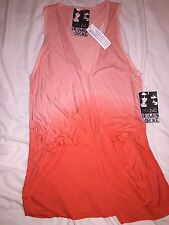 Young Fabulous & Broke Orange Ombre Pullover Racer Tank Top Shirt NWT  M