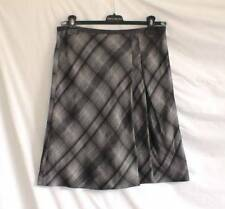 Knee Length Plaid A-line Skirts for Women