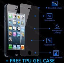TPU GEL CASE + TEMPERED GLASS SCREEN PROTECTOR FOR APPLE IPHONE SE 5S 5