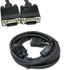 10FT Feet 15 Pin SVGA VGA Monitor Male To Male M/M Cable Cord for PC TV Black Us